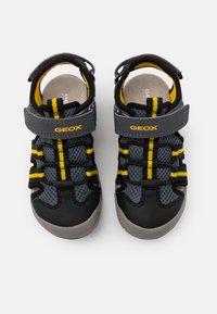 Geox - JR KYLE - Walking sandals - grey/yellow - 3