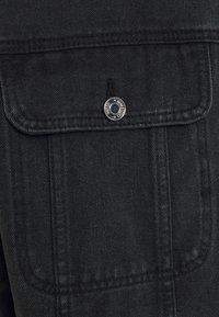 Missguided - PLEAT BACK OVERSIZED 80S JACKET - Denim jacket - black - 6