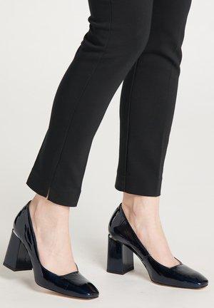 High heels - navy blue