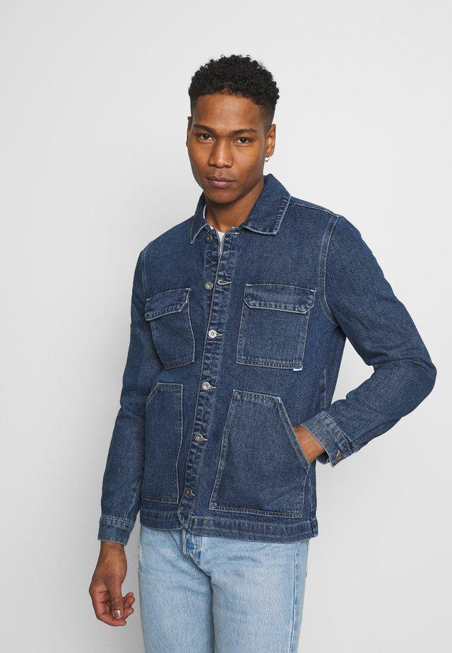 SAFARI JACKET - Denim jacket - stone blue