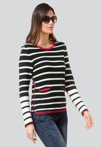 Alba Moda - Long sleeved top - marineblau,weiß,rot - 1