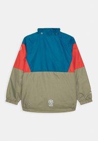 Color Kids - JACKET BLOCK UNISEX - Waterproof jacket - blue/red/khaki - 2