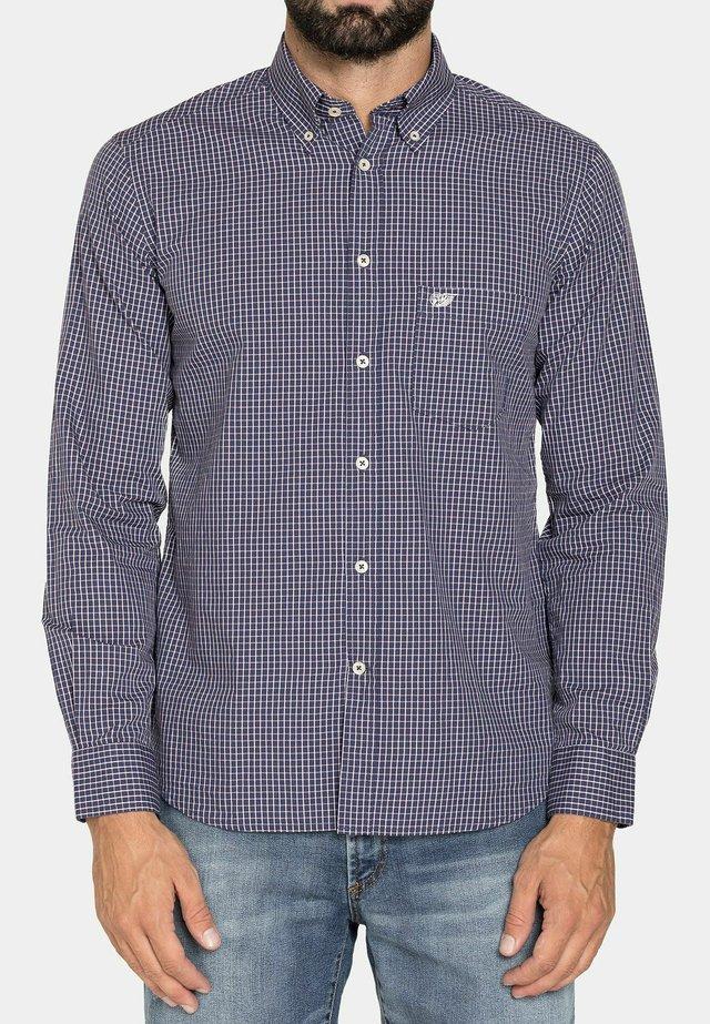 Camicia - blu/marrone