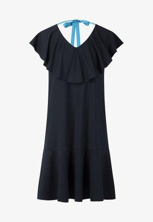DRESS WITH VOLANTS - Day dress - midnightblue