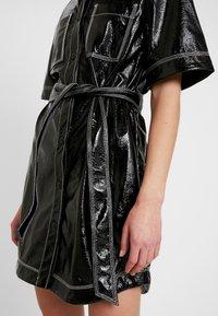 Monki - KARLA DRESS - Košilové šaty - black - 6