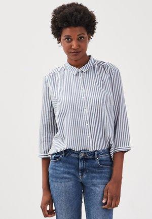 MIT 3/4-ÄRMELN - Button-down blouse - dark blue