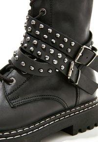 Inuovo - Cowboy/biker ankle boot - black blk - 6