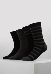 DIM - CREW SOCKS ECO DIM STYLE 4 PACK - Strumpor - black/grey - 0