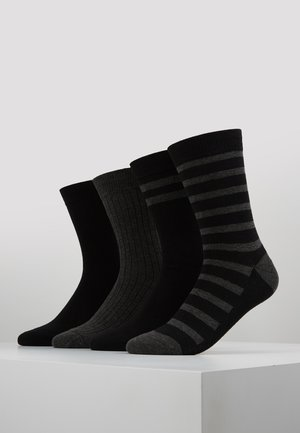 CREW SOCKS ECO DIM STYLE 4 PACK - Strumpor - black/grey