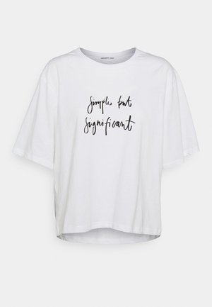 STANLEY BOXY TEE - T-shirts med print - white