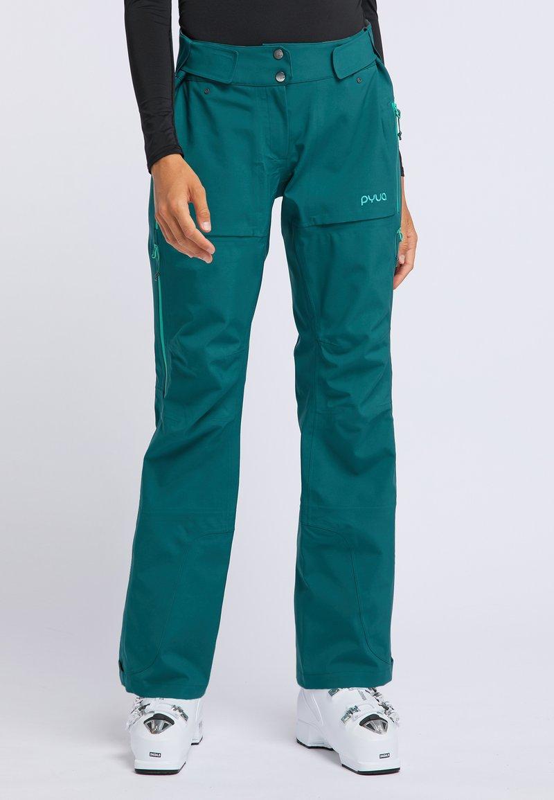 PYUA - RELEASE - Pantaloni da neve - petrol blue
