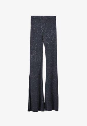 Trousers - mottled dark grey