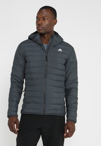 adidas Performance - VARILITE SOFT HOODED - Down jacket - carbon - 0