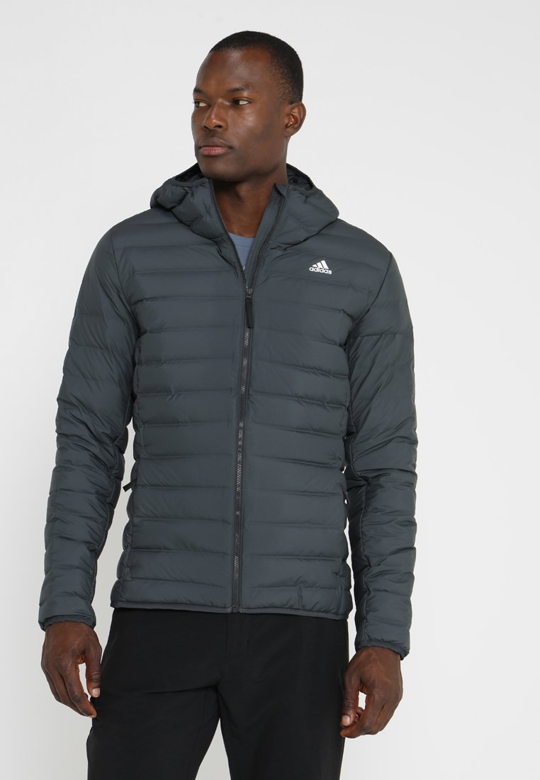 adidas Performance - VARILITE SOFT HOODED - Down jacket - carbon
