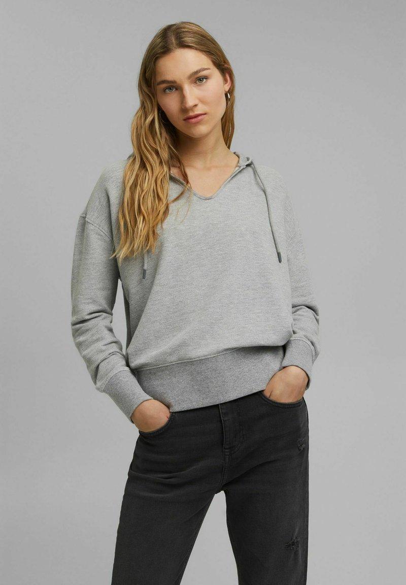 edc by Esprit - RELAXED - Hoodie - medium grey