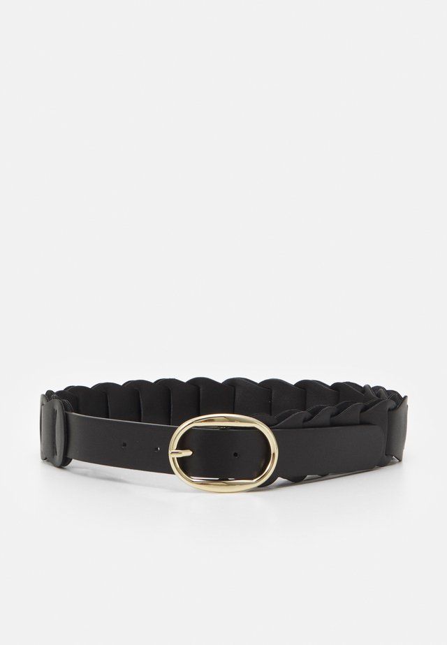PCALTANIA WAIST BELT - Pasek - black/gold-coloured