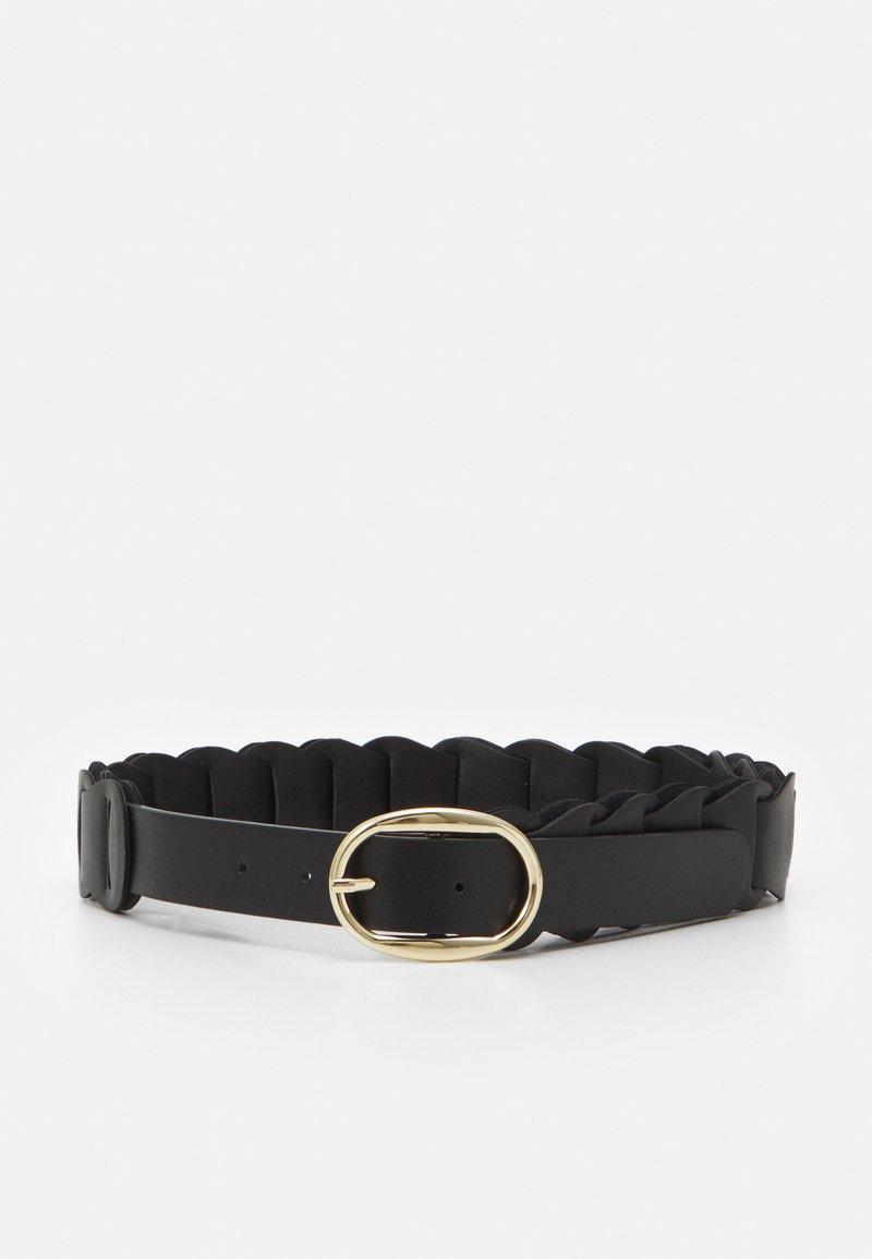 Pieces - PCALTANIA WAIST BELT - Waist belt - black/gold-coloured