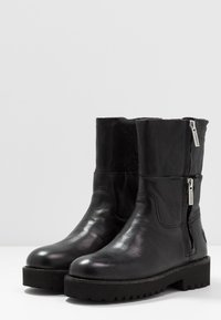 Shabbies Amsterdam - Platform ankle boots - black - 4