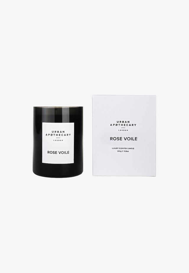 LUXURY BOXED GLASS CANDLE - Scented candle - rose voile