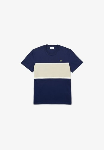 T-shirt print - blau   beige
