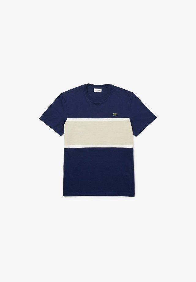 T-shirt imprimé - blau   beige