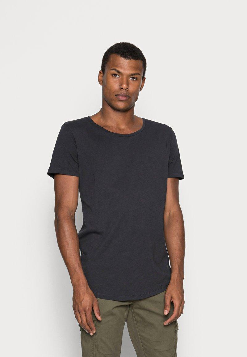 Lee - SHAPED TEE - T-shirts basic - washed black