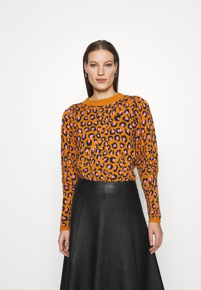 LEOPARD POP CROPPED  - Trui - multi