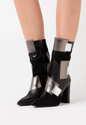 CANDICE - High heeled ankle boots - nero/gun metal