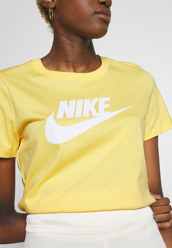 Nike Sportswear TEE ICON FUTURA - T-shirt z nadrukiem - topaz gold Nadruk Odzież Damska QYZK RP 2