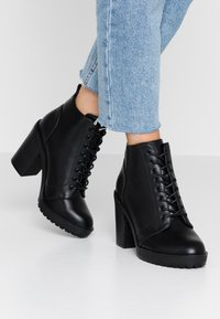 ONLY SHOES - BOO WITH LACES   - Bottines à talons hauts - black - 0