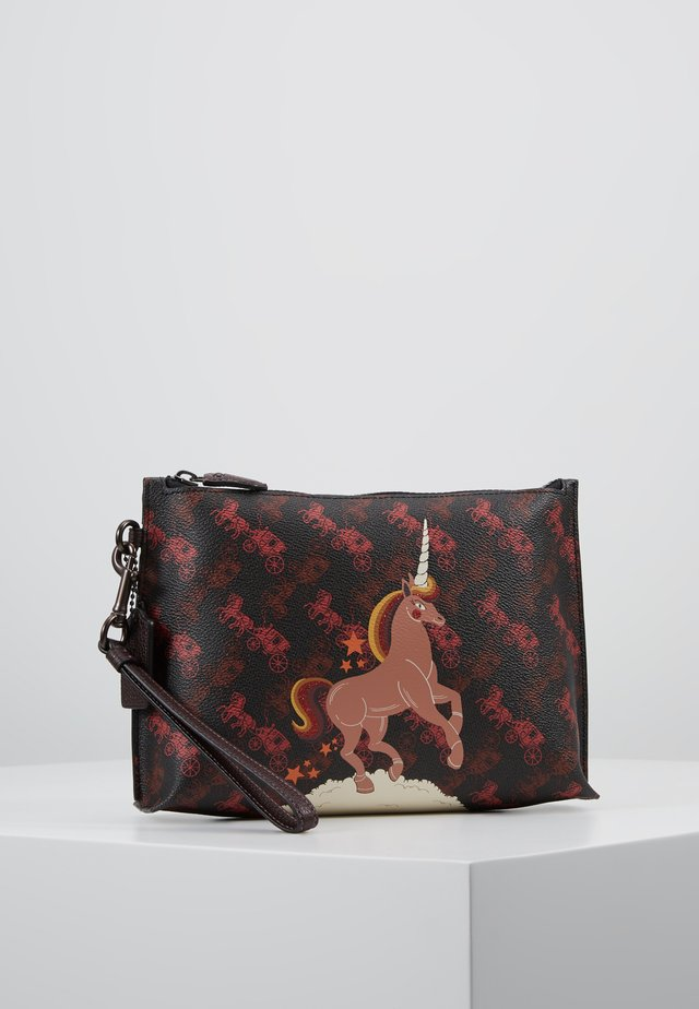 HORSE AND CARRIAGE UNICORN CHARLIE POUCH - Kopertówka - black oxblood