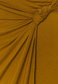 Anna Field - CLASSIC Front knot midi skirt - Pennkjol - brown - 2
