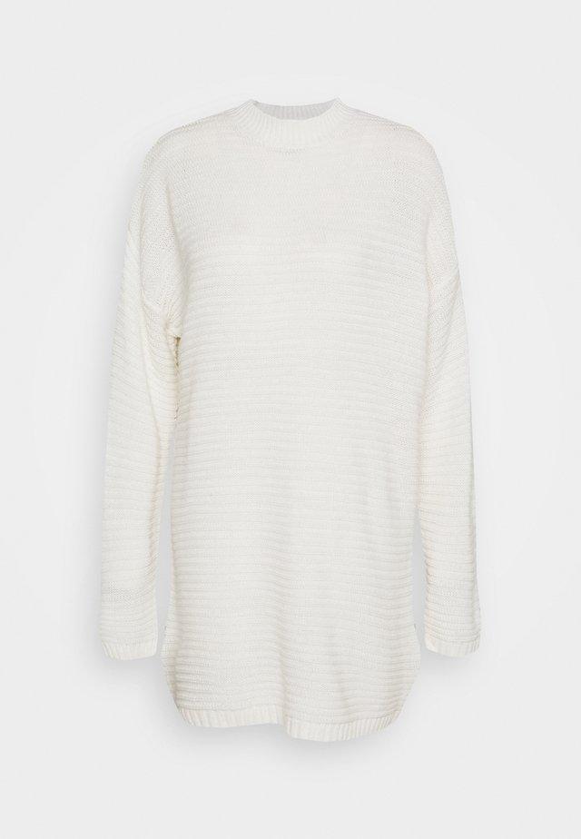 HIGH NECK DRESS - Abito in maglia - off white