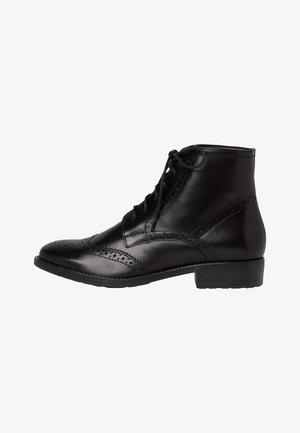 WOMS  - Botines con cordones - black