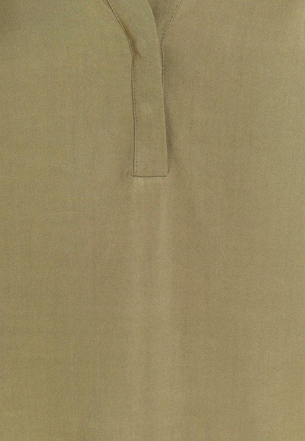 Object OBJBAYA V NECK BLOUSE NOOS - Bluzka - burnt olive/khaki PYSZ