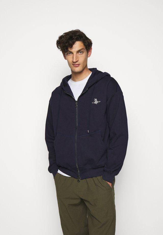RUGGED ZIP HOODIE - Zip-up hoodie - navy