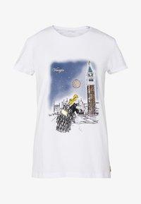 Patrizia Pepe - MAGLIA - T-shirts med print - bianco/venezia - 4