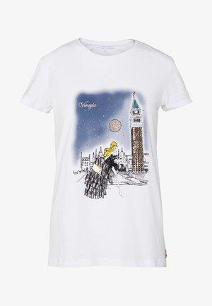 MAGLIA - T-shirts med print - bianco/venezia
