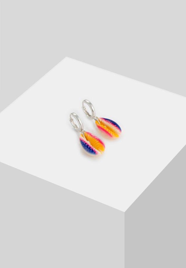 KAURI MUSCHEL RAINBOW - Earrings - silber