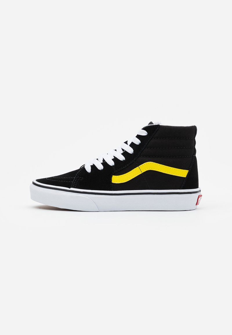 Vans - SK8 UNISEX - High-top trainers - black/blazing yellow/true white
