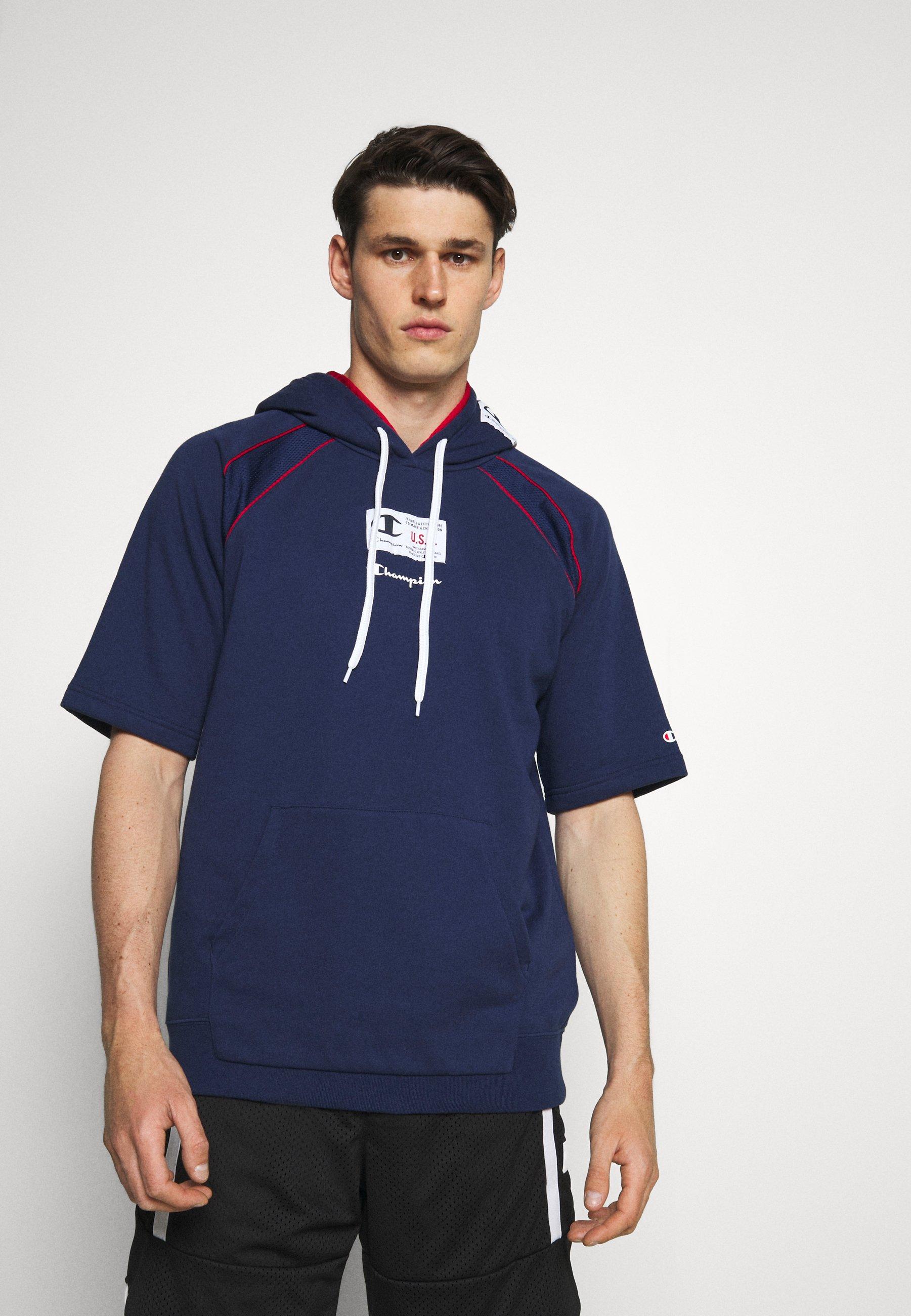 Men HOODED SHORT SLEEVES - Sweatshirt