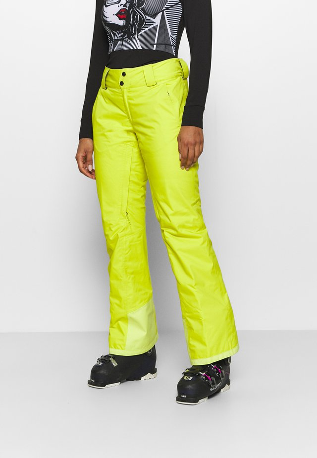 INSULATED SNOWBELLE PANTS - Talvihousut - chartreuse