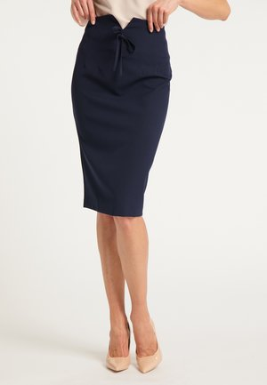 DREIMASTER BLEISTIFTROCK - Pencil skirt - marine