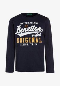 Benetton - Langærmede T-shirts - dark blue - 0