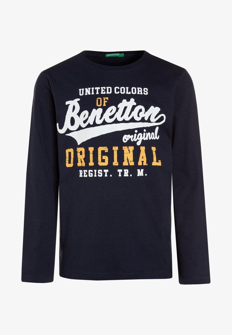 Benetton - Langærmede T-shirts - dark blue