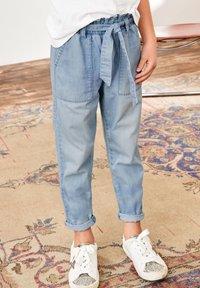Next - PAPERBAG  - Straight leg jeans - light-blue denim - 0