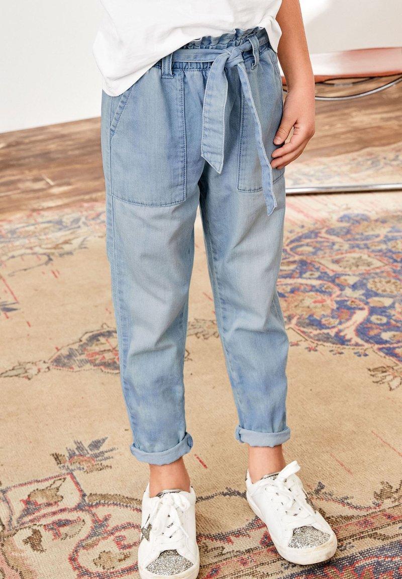 Next - PAPERBAG  - Straight leg jeans - light-blue denim