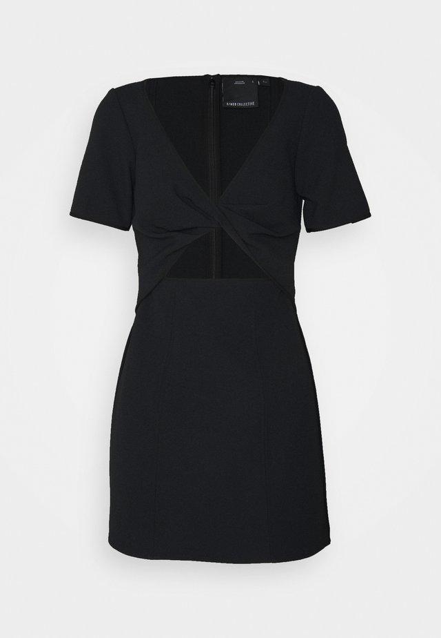 CIRCULATE MINI DRESS - Cocktailjurk - black