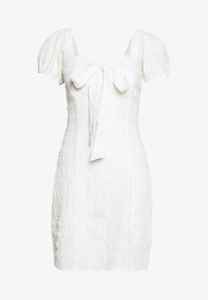STRUCTURED BOW DRESS - Day dress - white