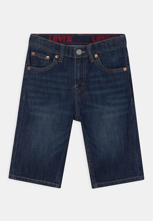 PERFORMANCE  - Denim shorts - dark blue denim